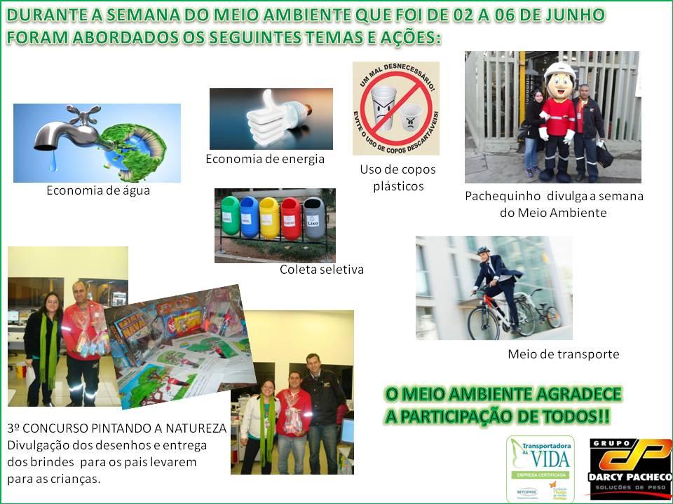 FINALIZAÇÃO CAMPANHA MEIO AMBIENTE
